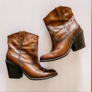 Lucky Brand Brown Western Style Booties